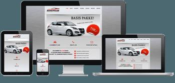 billede af en responsive hjemmeside til bilvask