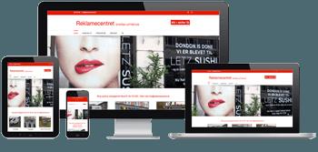 billede af en responsive hjemmeside til reklamercentret