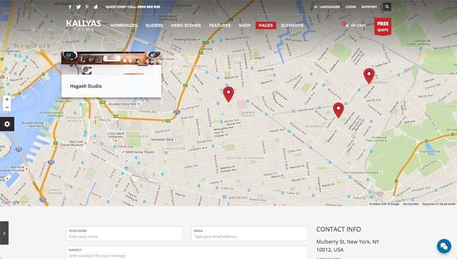 Billede af webshop eksempel 2 fra siden google maps