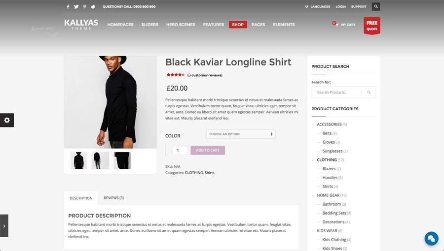 Billede af webshop eksempel 2 fra siden produkt visning