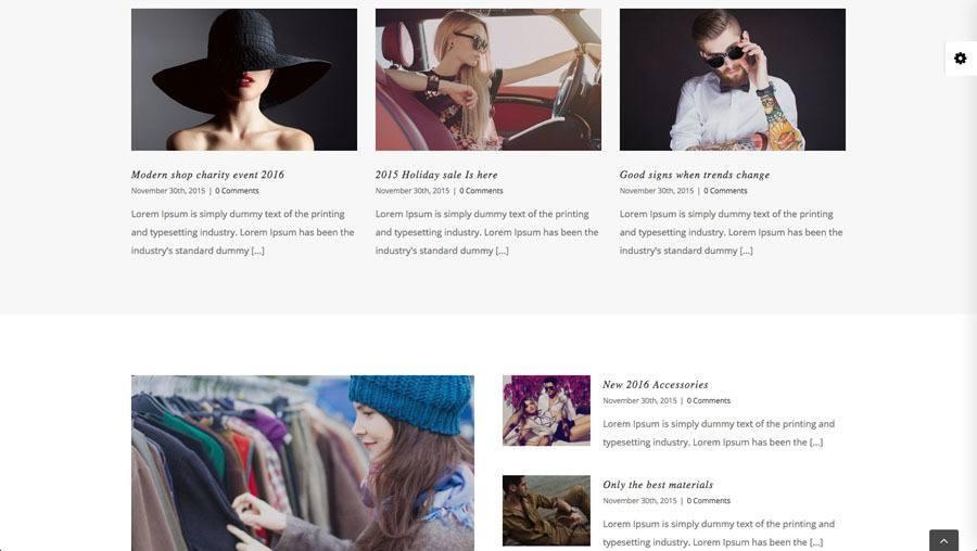 4 flotte unge mennesker i moderne tøj på billedet af webshop eksempel 3 - blog