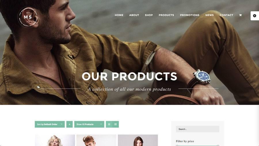 flot mand i moderne tøj og fedt ur på billedet af webshop eksempel 3 - produkt kategori