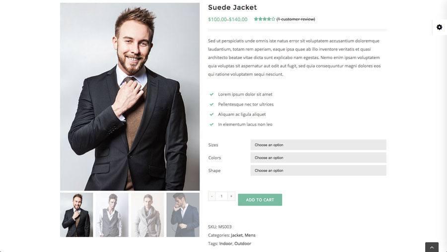 mand med moderne jakke på billedet af webshop eksempel 3 - produkt