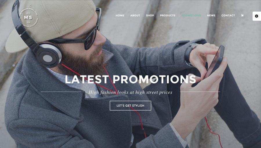 flot fyr med mobiltelefon på billedet af webshop eksempel 3 - promotions