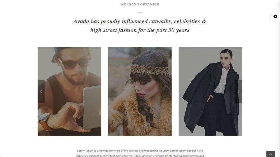 3 personer i moderne tøj på billedet af webshop eksempel 3 - slideshow