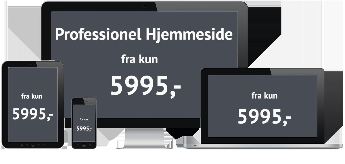 Ny hjemmeside - Få en hjemmeside pris nu - Gratis online prisberegner