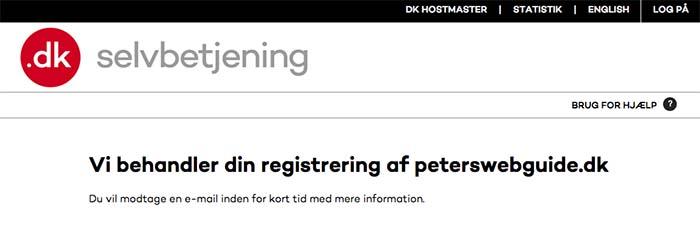 Endnu en Email fra DK Hostmaster