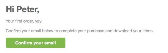 Grøn knap til bekræftelse af email adresse