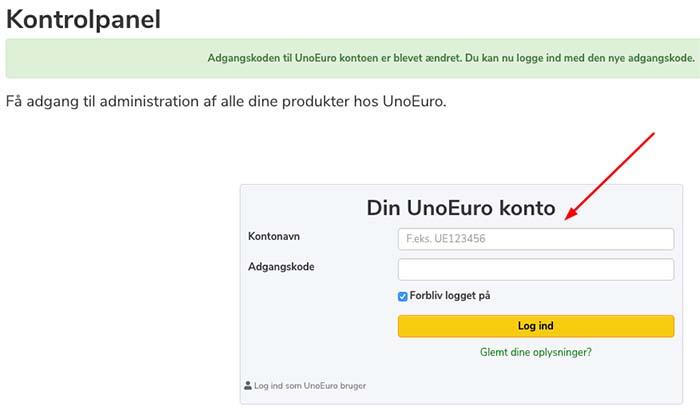 login til Unoeuro
