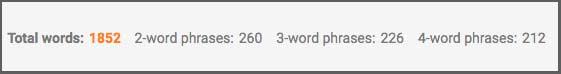 Seoquake værktøj til måling af antal ord