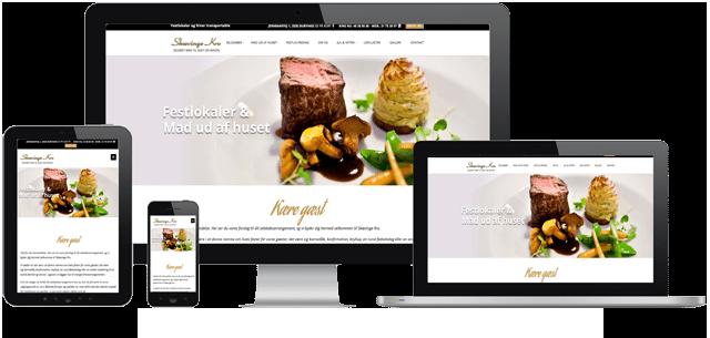 Eksempel på Hjemmeside design som vi har leveret til Skævinge Kro