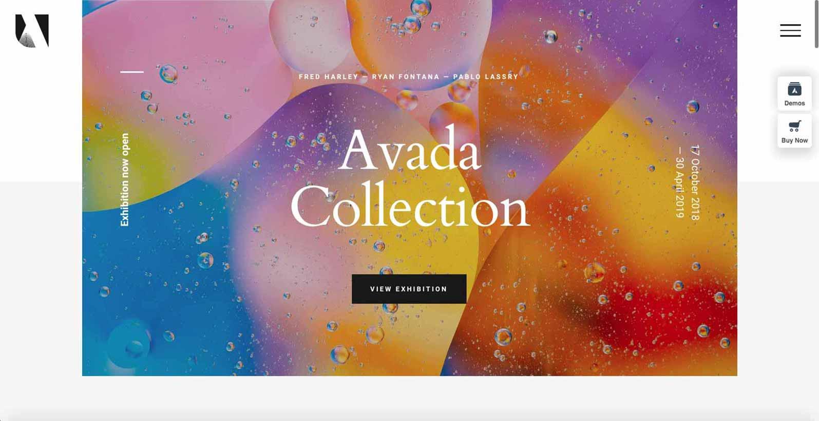 Hjemmeside skabelon til en kunstner