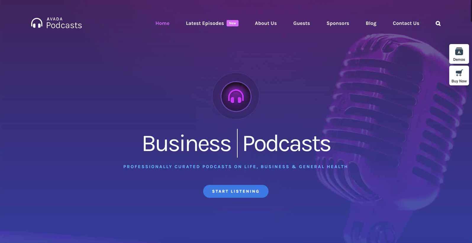 Hjemmeside skabelon til Podcast