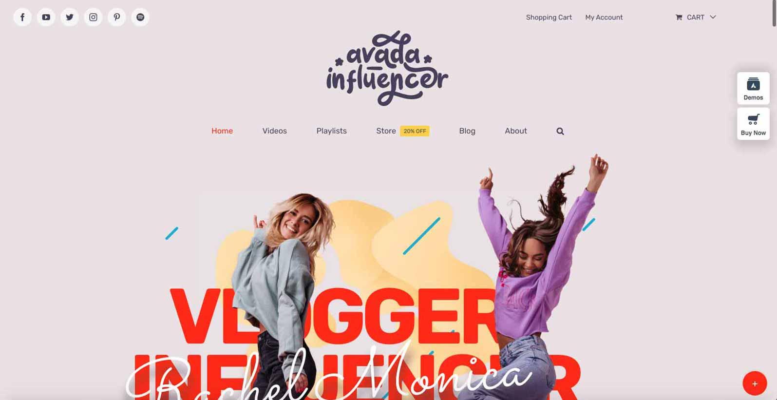 Hjemmeside skabelon til bloggere