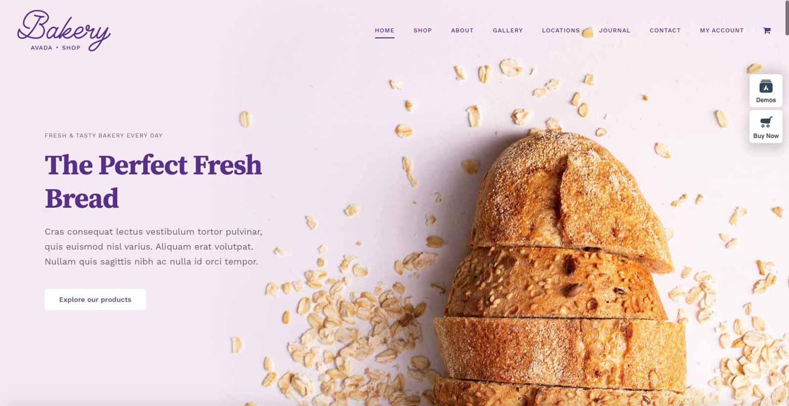 Hjemmeside skabelon til en bager