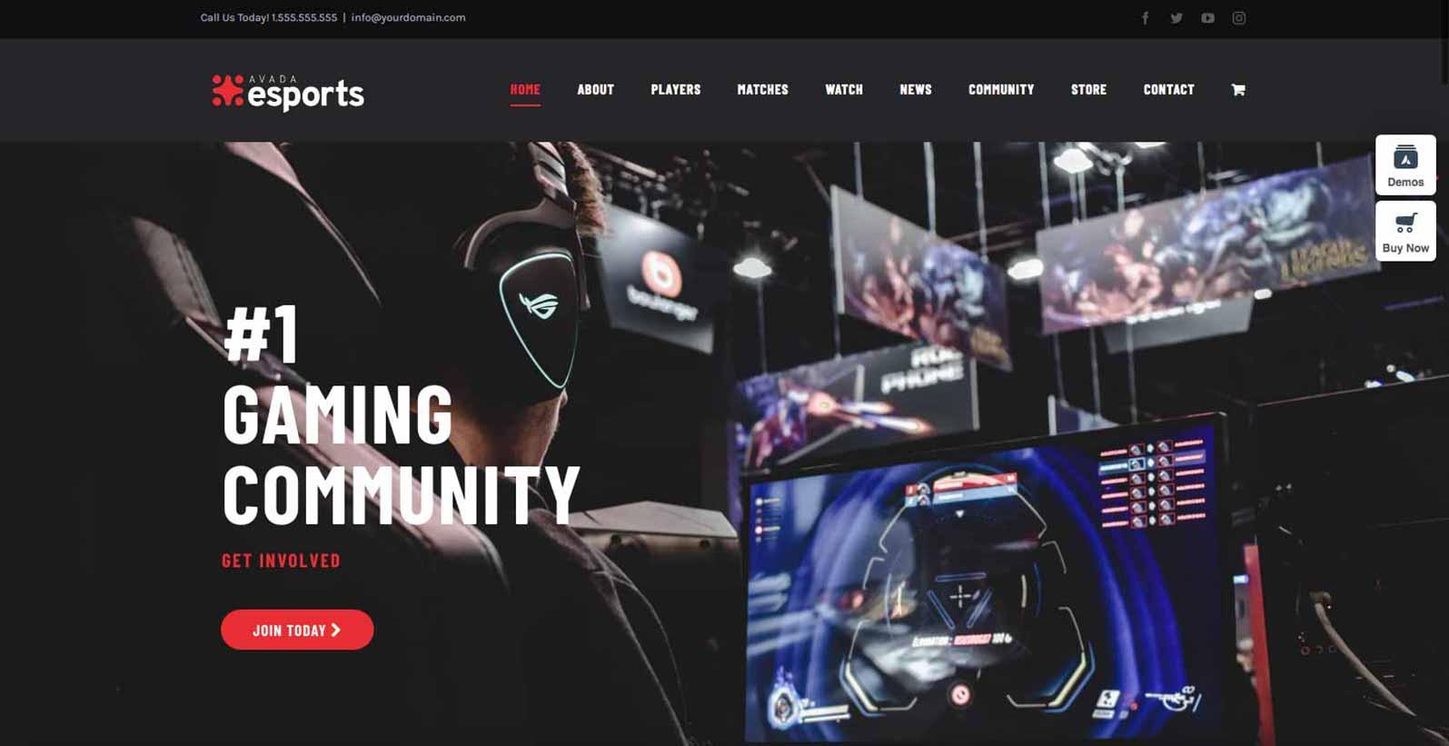 Hjemmeside skabelon til et gaming firma