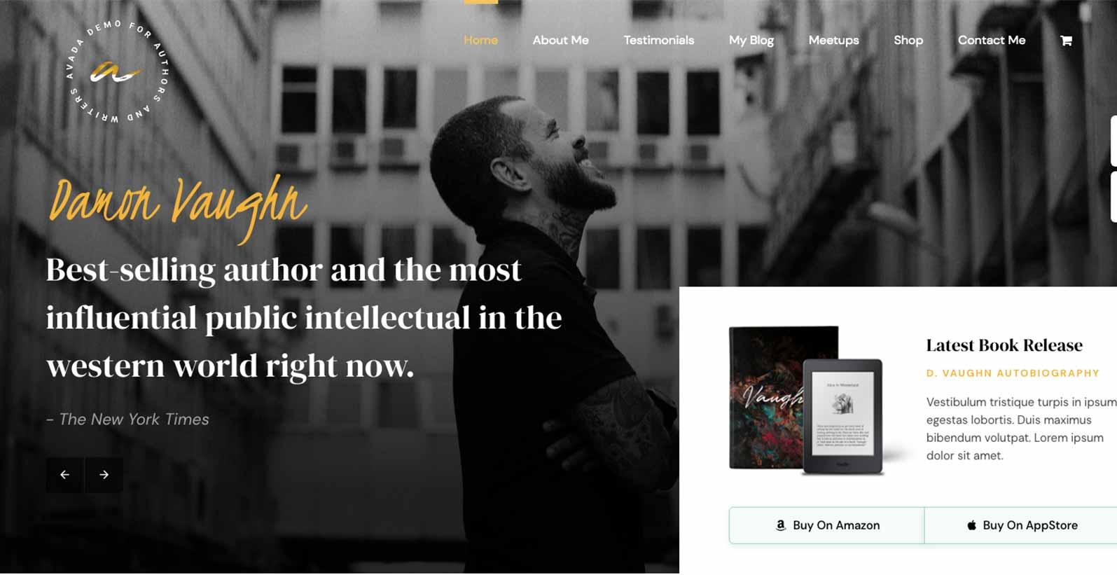Hjemmeside skabelon til en forfatter
